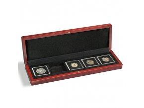volterra 5 quadrum drevene mincovni etue krabicka na mince kazeta na 5 ctvercovych kapsli quadrum 50x50mm leuchtturm 339051 lighthouse