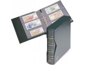 numis classic tmave zelene album na bankovky s kazetou 20 vzorovych listu album na pohlednice pohledy leuchtturm 315821 lighthouse