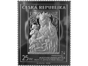stribrna znamka madona zbraslavska 25 kc umeni doby karla iv mincovna kremnica drahomir zobek ag