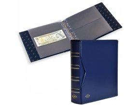 numis classic tmave modre album na bankovky s kazetou 20 vzorovych listu alba na pohlednice pohledy leuchtturm 317859 lighthouse