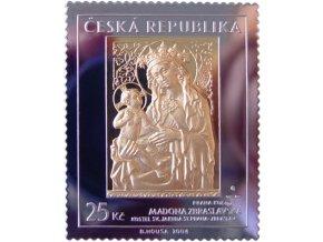 zlata znamka madona zbraslavska 25 kc umeni doby karla iv mincovna kremnica drahomir zobek au