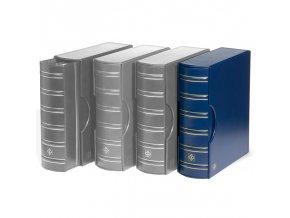 grande gigant classic tmave modre album s kazetou na bankovky mince pohledy dokumenty a4 znamky leuchtturm 301901 lighthouse