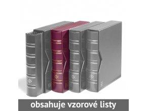 optima classic cervene mincovni album s kazetou 10 vzorovych listu leuchtturm 331276 lighthouse