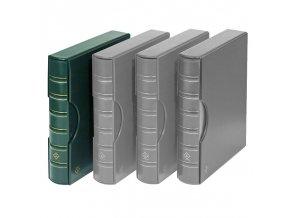 grande classic tmave zelene album na bankovky mince pohledy a4 dokumenty s kazetou leuchtturm 317159 lighthouse