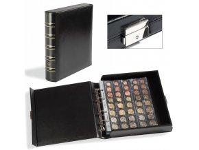 optima classic box cerne kozenkove album s integrovanou uzamykatelnou kazetou optima mincovni kazeta leuchtturm 310766 lighthouse
