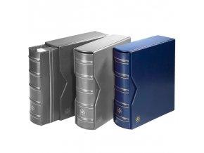 optima gigant classic modre album s kazetou na bankovky mince pohledy optima g leuchtturm 322659 lighthouse