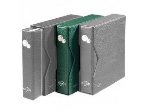 zelene album numis na mince kozenkove s kazetou mincovni album numis leuchtturm 338788 lighthouse