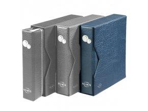 modre album numis na mince kozenkove s kazetou mincovni album numis leuchtturm 338787 lighthouse