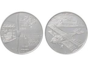 2019 200 kc stribrna pametni mince 100 vyroci sestrojeni prvniho letounu ceskoslovenske vyroby bohemia b5 ag proof
