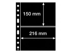cerne albove listy grande 2s 2 kapsy na bankovky znamky certifikaty do 216x150 mm leuchtturm 324690 lighthouse