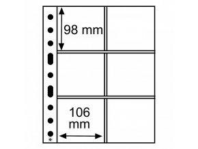 pruhledne albove listy grande 3 2c 6 kapes na pivni tacky folie obaly na podtacky od piva do 98x106 mm leuchtturm 316604 lighthouse