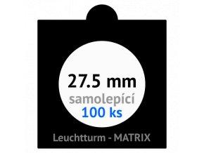 matrix cerne samolepici mincovni ramecky na mince prumer 27 5 mm baleni 100 ks 5x5 cm leuchtturm 361064