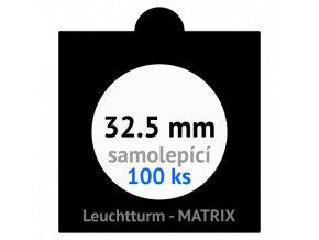matrix cerne samolepici mincovni ramecky na mince prumer 32 5 mm baleni 100 ks 5x5 cm leuchtturm 361066