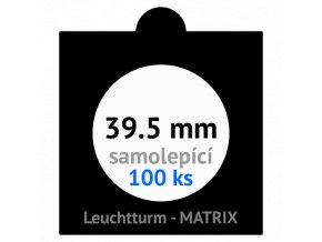 matrix cerne samolepici mincovni ramecky na mince prumer 39 5 mm baleni 100 ks 5x5 cm leuchtturm 361069