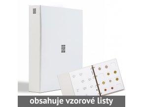 bile mincovni album matrix 5 bilych tabulek pro 60 mincovnich ramecku 50x50 mm leuchtturm 346626 lighthouse