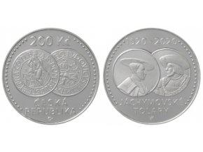 2020 - 200 Kč - Stříbrná pamětní mince - 500. výročí zahájení ražby jáchymovských tolarů - 13 g - 0.925 Ag - PROOF