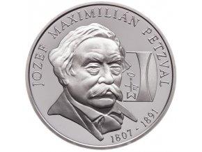 Slovenská pamětní stříbrná mince vydaná v roce 2007 v hodnotě 200 Sk - 200. výročí narození Jozefa Maximiliána Petzvala.