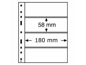 pruhledne albove listy optima 4c cire 4 vodorovne kapsy 180x58 mm obaly optima folie leuchtturm 318071 lighthouse
