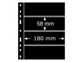cerne albove listy optima 4s 4 vodorovne kapsy na arsiky znamky vstupenky do 180x58mm obaly optima folie leuchtturm 331859 lighthouse