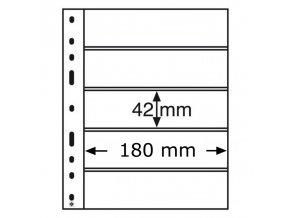 pruhledne albove listy optima 5c 5 vodorovnych kapes na znamky do 180x42mm obaly optima folie leuchtturm 307543 lighthouse