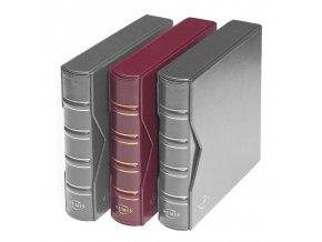 numis classic vinove cervene album na bankovky mince pohledy desky s kazetou numis leuchtturm 312262 lighthouse