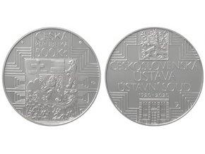2020 500 kc stribrna pametni mince 100 vyroci schvaleni ceskoslovenske ustavy a vzniku ustavniho soudu ceskoslovenske republiky ag proof