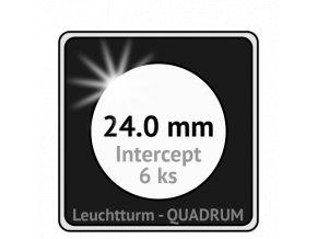 quadrum intercept prumer 24 mm ochranne bublinky 24mm protikorozni ctvercove mincovni kapsle na mince proti oxidaci patine leuchtturm 344149 lighthouse