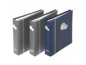 mincovni album numis modre kozenkove desky na mince bez kazety leuchtturm 337964 lighthouse