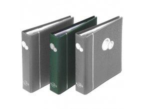 mincovni album numis zelene kozenkove desky na mince bez kazety leuchtturm 300115 lighthouse