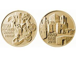 2018 5000 kc zlata mince hrad rabi asamat baltaev umelecky navrh