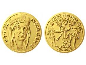 zlata mince 10000 kc knezna ludmila 1oz 2021