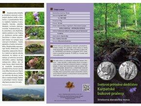 letak strieborna zberatelska minca karpatske bukove pralesy 10 eur 2015 predni strana