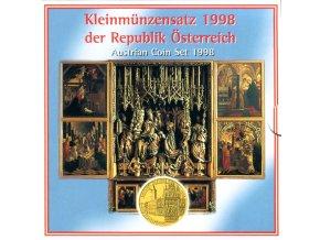 1998 rakousko sada obeznych minci kleinmunzensatz der republik osterreich 1998 austrian coin set unc kms 1998