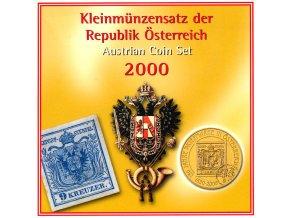 2000 rakousko sada obeznych minci kleinmunzensatz der republik osterreich 2000 austrian coin set unc