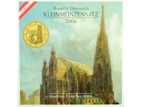 2006 rakousko sada obeznych minci kleinmunzensatz der republik osterreich 2006 austrian coin set unc