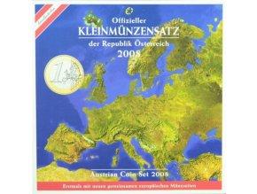2008 rakousko sada obeznych minci kleinmunzensatz der republik osterreich 2008 austrian coin set prooflike