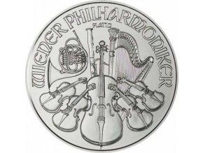 platinova investicni mince platina philharmoniker 2018 100 eur 1 oz rakousko austrian mint standard