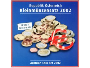 2002 rakousko sada obeznych minci kleinmunzensatz der republik osterreich 2002 austrian coin set unc