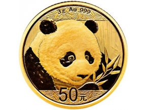 50 cny panda 2018 zlata investicni mince au gold 3g standard
