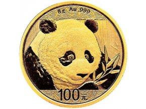 100 cny panda 2018 zlata investicni mince au gold 8g 8 gram standard