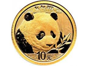 zlata investicni mince 1g panda 1 g 2018 10 cny yuan gold au