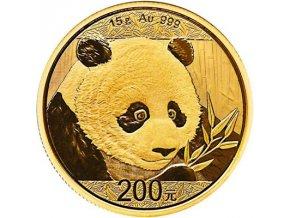 15g panda 15 g 2018 zlata investicni mince gold yuan 200 cny au standard