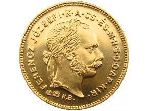 zlata replika 1 dukat Frantisek Jozef I. Magyar kiralysag 1881 K.B. Au lic
