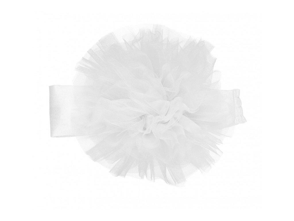 fascia con tulle bianca tg1
