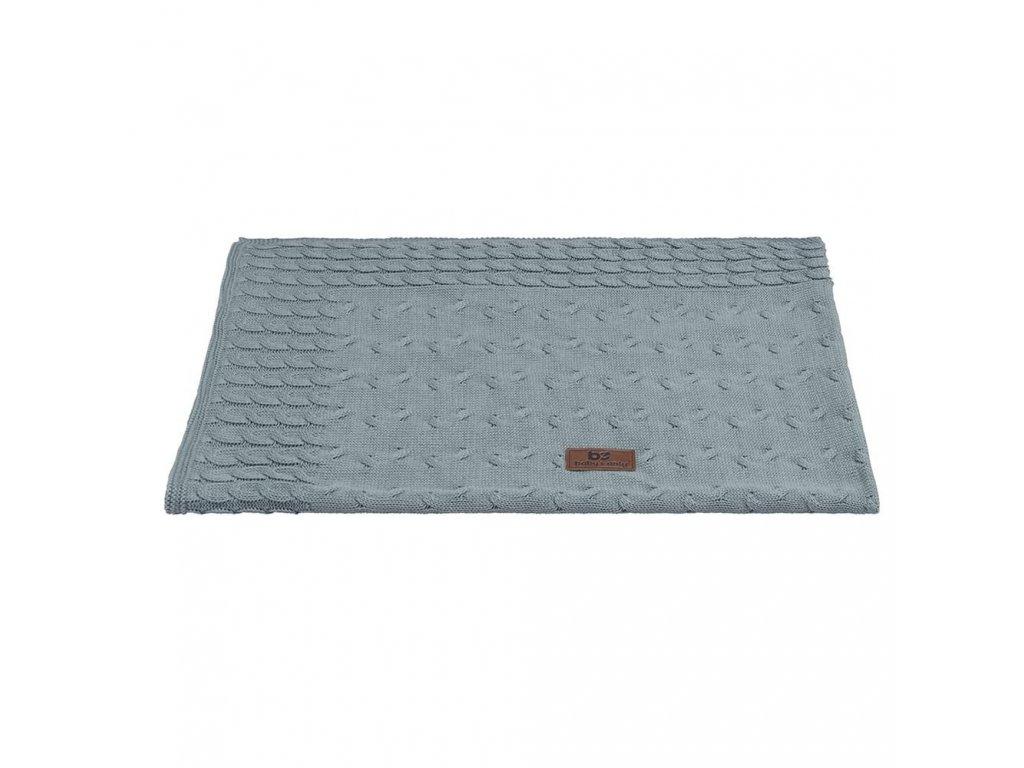 baby crib blanket cable stonegreen 10814001 en G