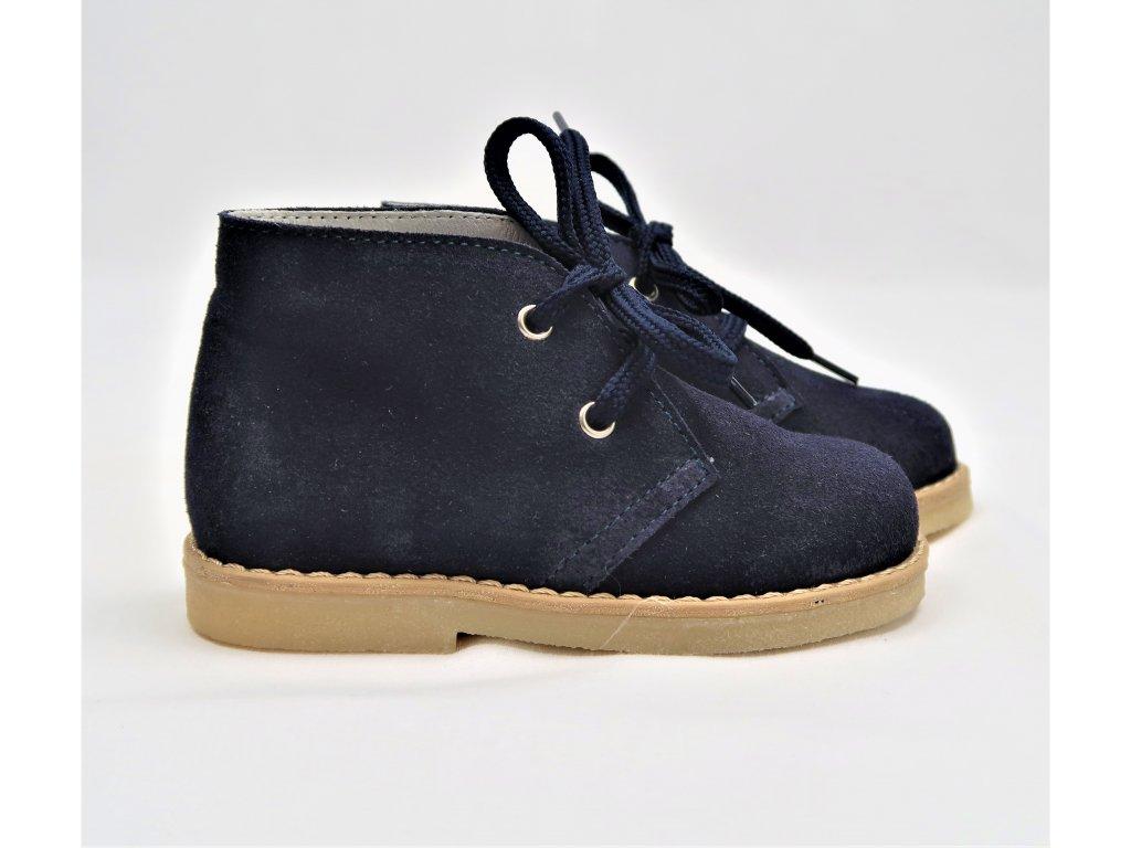 Topánky semiš modré 2