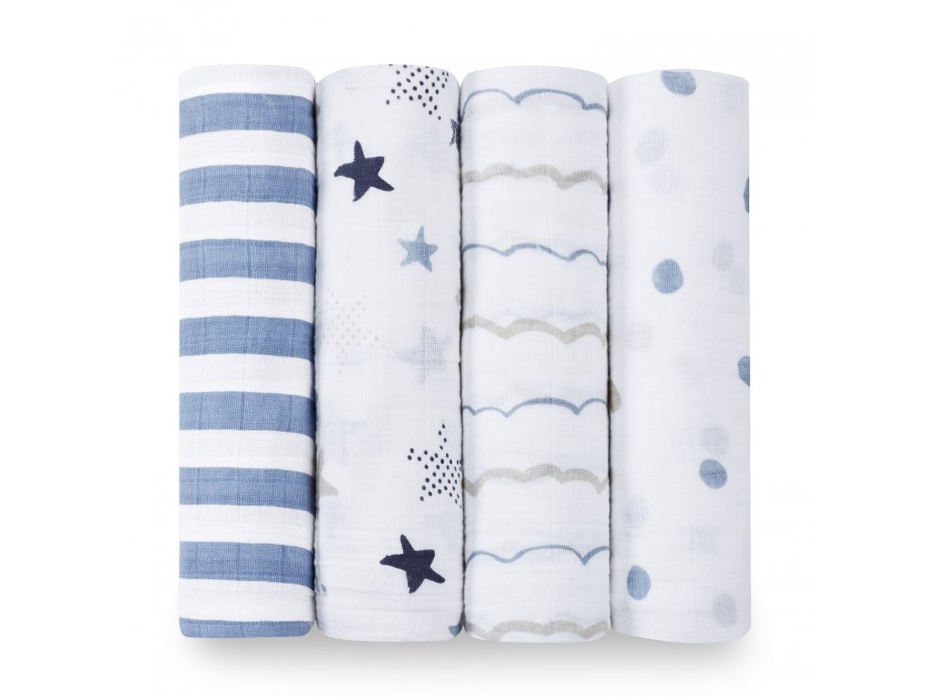 2046 0 classic 4 pack swaddle rock star rolled product