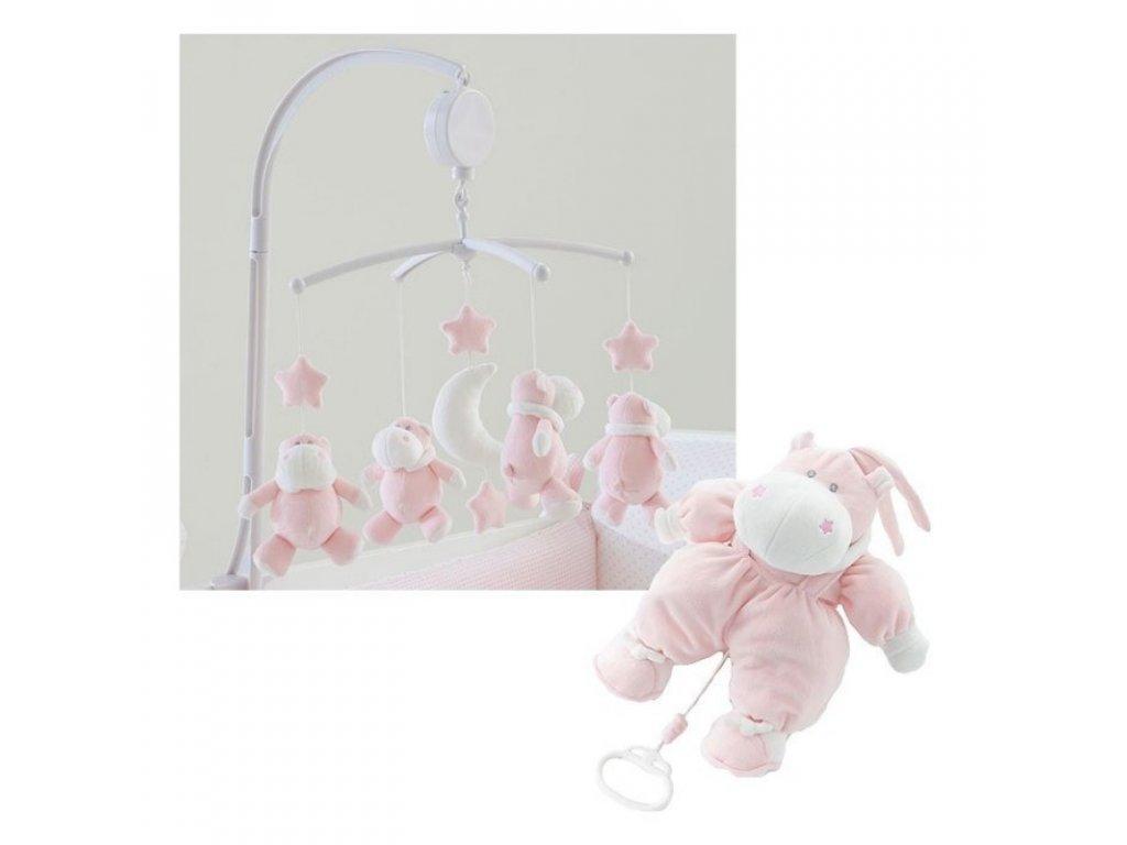 xmas gift giostrina bombo carillon lettino bombo col rosa