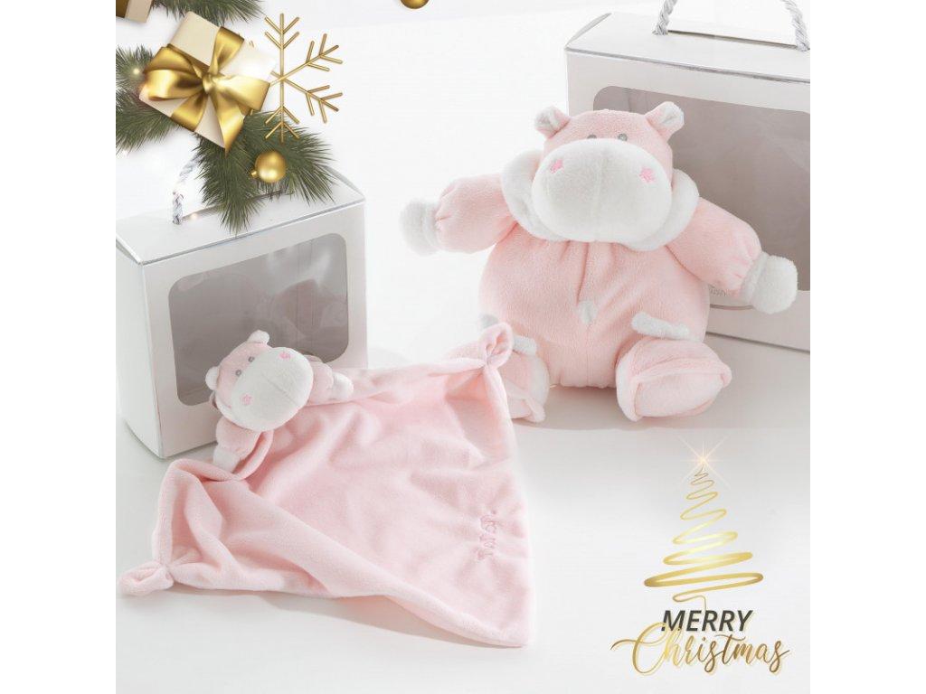 xmas gift carillon passeggio bombo rosa doudou bombo rosa