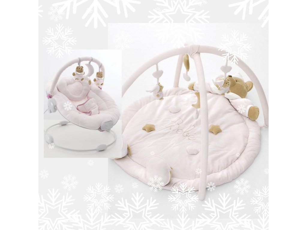 Darčekový set : Hracia deka Puccio ružová + Lehátko Puccio ružové